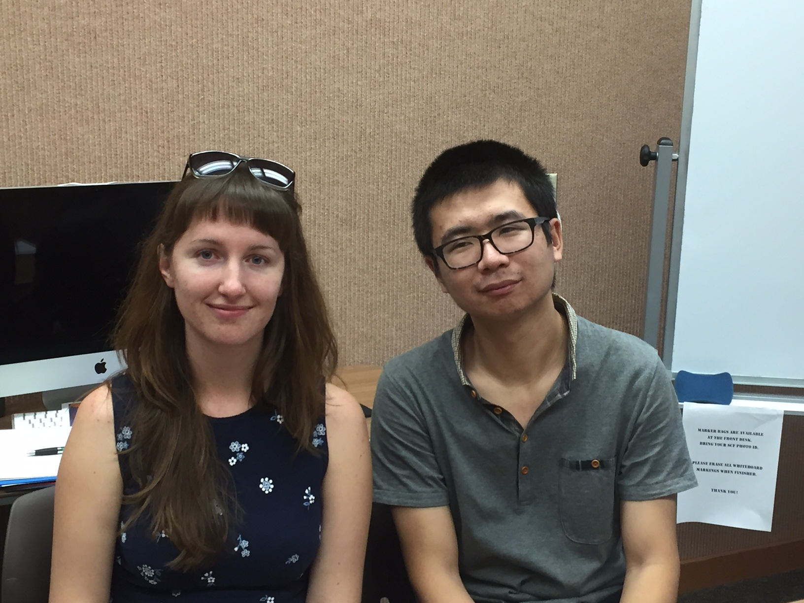 Immigration interview with Oleksandra and Wentao 3/16/16