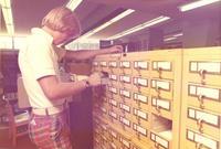 Card catalog at MCC Library.