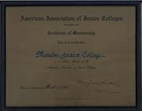 AAJC accreditation for MJC 3-11-59
